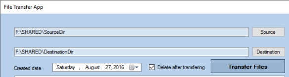 3 select directories with delete option
