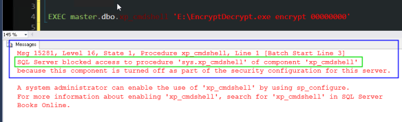 how to activate xp_cmdshell