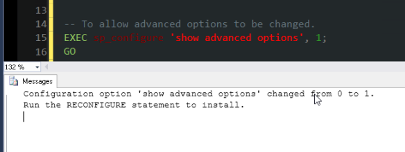 2 show advanced options
