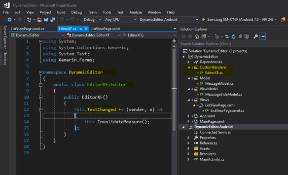 Xamarin Forms Editor Control – How to Change the Height